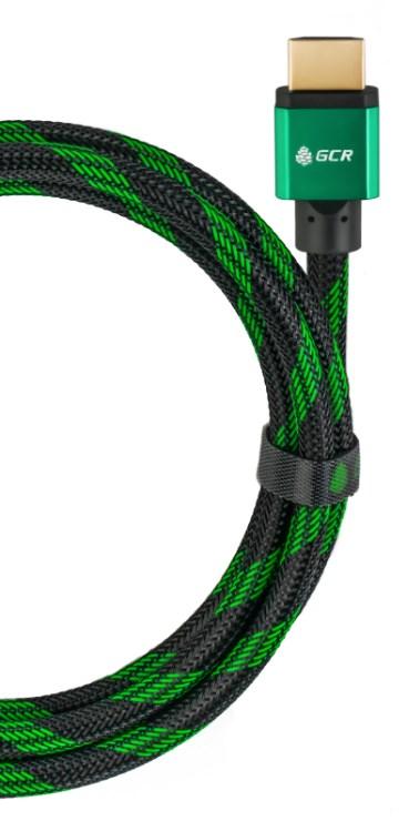 Аксессуар Greenconnect Bicolor HDMI v2.0 1m Green GCR-51489 - фото 1