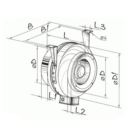 Канальный вентилятор Blauberg Centro M 100 - фото 1