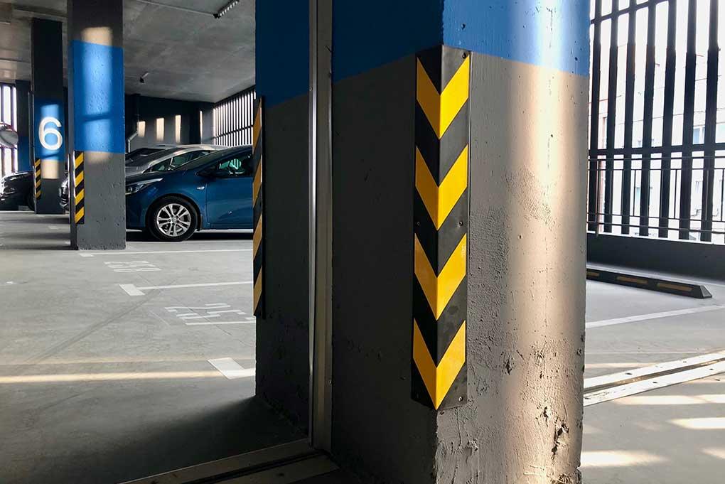 Защита углов на паркинге