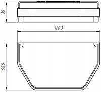 Кронштейн желоба ПВХ Murol U-110 (коричневый) - фото Заглушка желоба универсальная