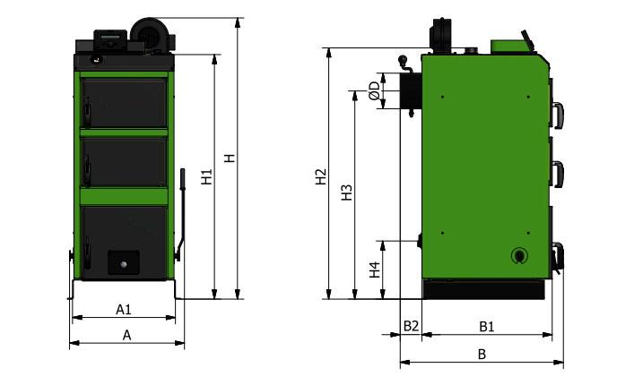 Твердотопливный котел Pramen (Sakovich) WG plus 32 kW - фото wg-plus