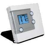 Электронный регулятор температуры проводной SALUS RT 300, ЖК дисплей с неоновой подсветкой - фото RT300 Электронный регулятор температуры