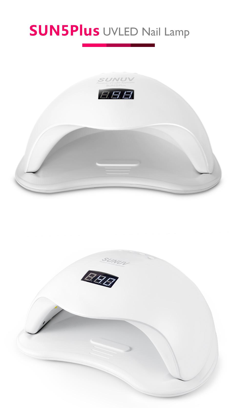 Лампа для сушки ногтей SUNUV SUN5 Plus 48W Smart 2.0 - фото HTB1nLnLbhSYBuNjSsphq6zGvVXaQ.jpg