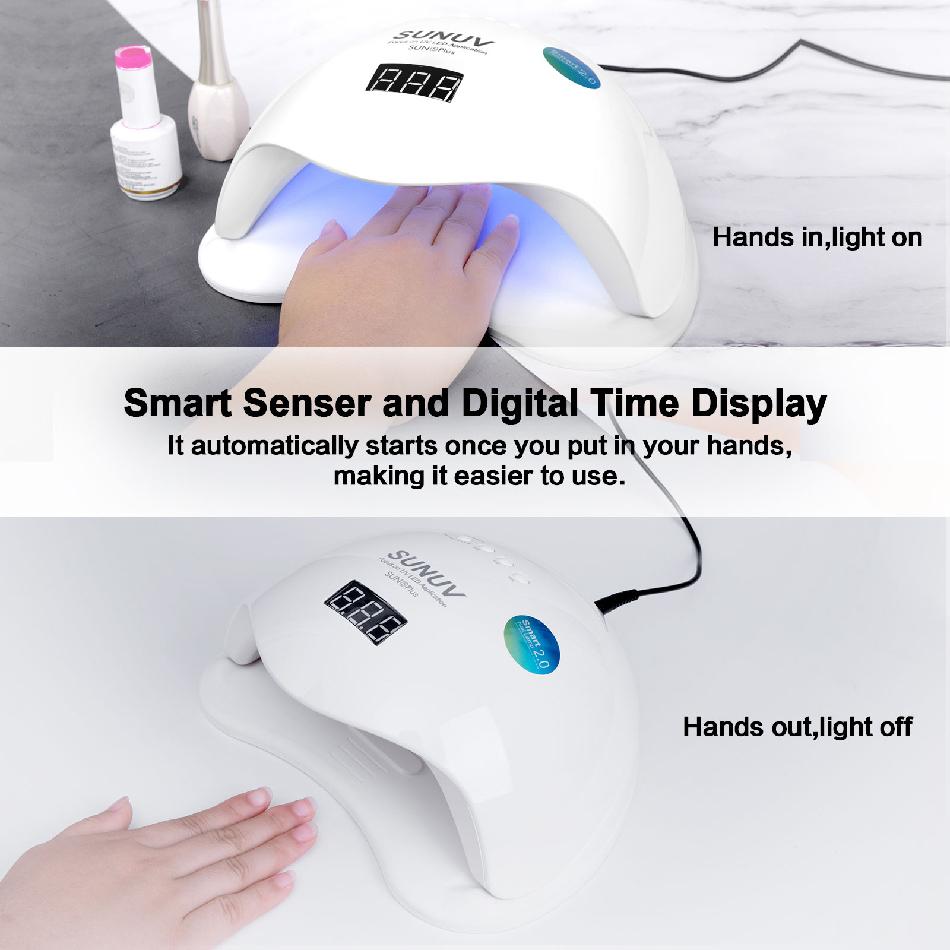 Лампа для сушки ногтей SUNUV SUN5 Plus 48W Smart 2.0 - фото 6-