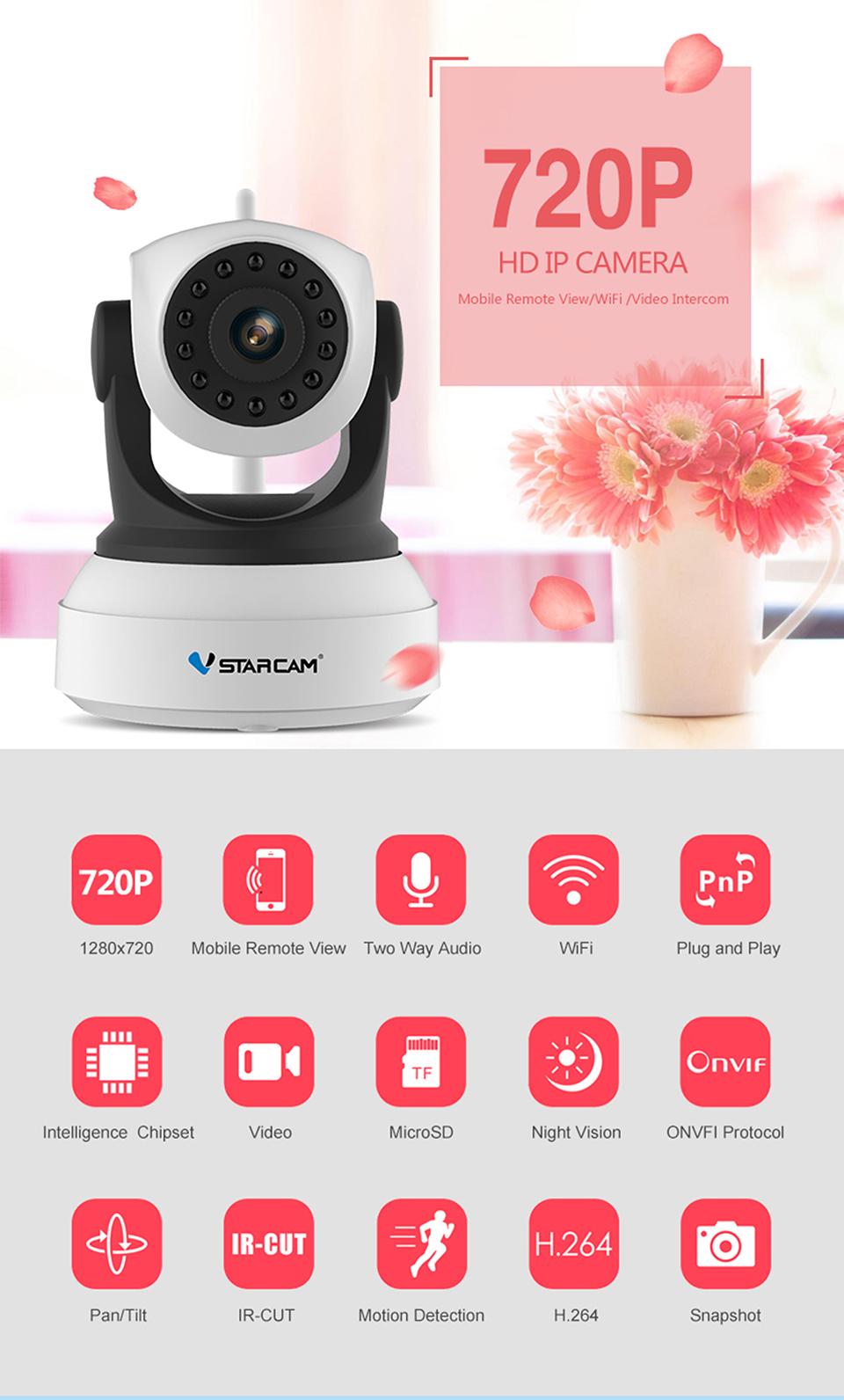 Камера видеонаблюдения VStarcam C7824WIP Wifi IP Camera - фото 001