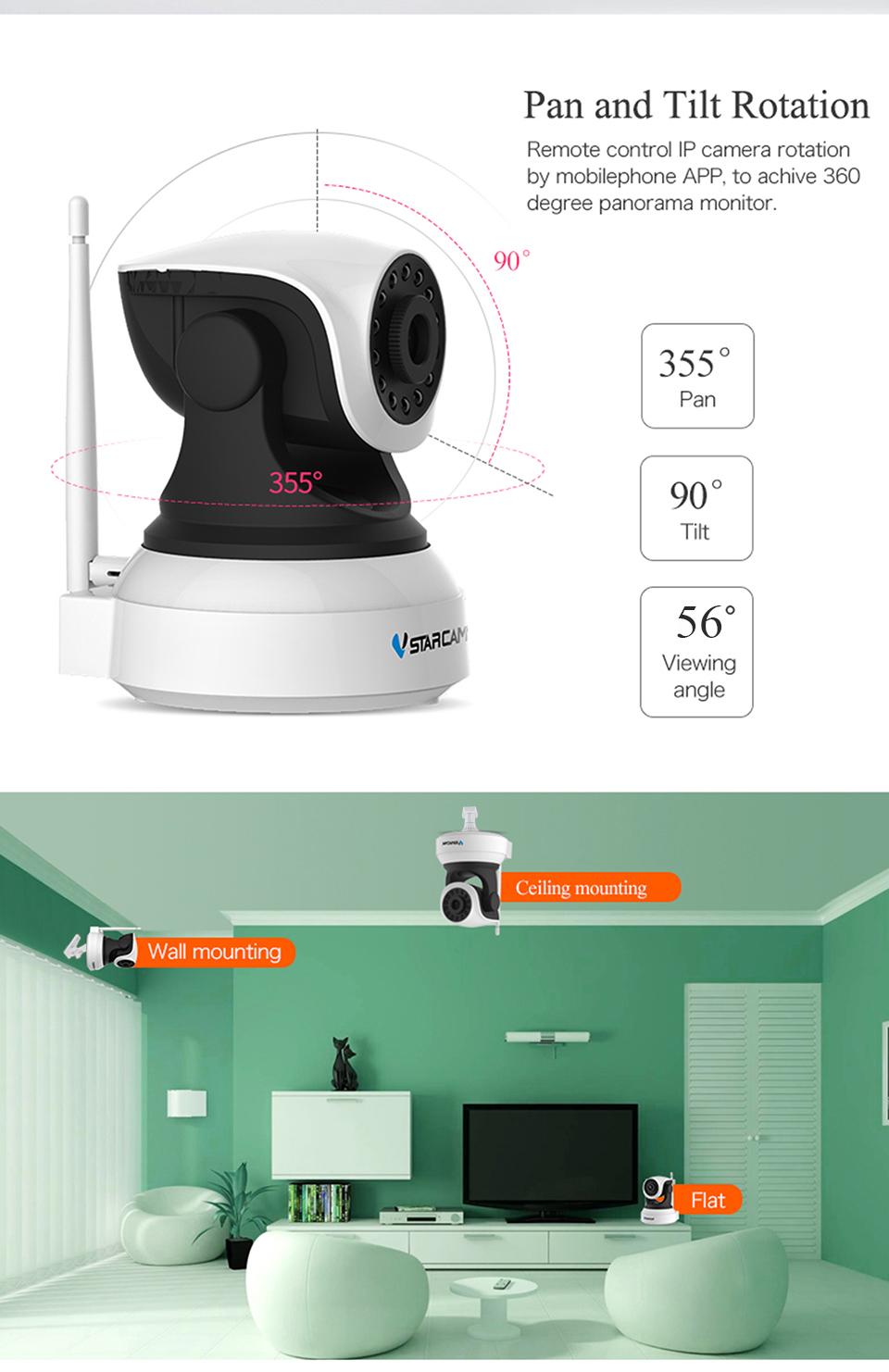 Камера видеонаблюдения VStarcam C7824WIP Wifi IP Camera - фото 007