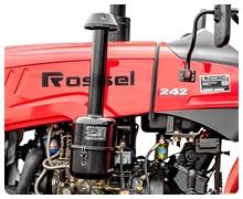 Мини-трактор Rossel RT-242D дизельный (24 л.с., трехцилиндр.) - фото Двигатель.jpg