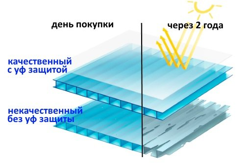 Теплица с поликарбонатам Цинк-Мастер Титан (аналог Агросфера) (шаг 1 м, 40х20 мм) + 5 Подарков! - фото uf-zashhita-polikarbonata.jpg