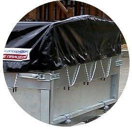 Прицеп для легкового автомобиля Уралец (8213 00) - фото тент и дуги прицепа уралец 8213