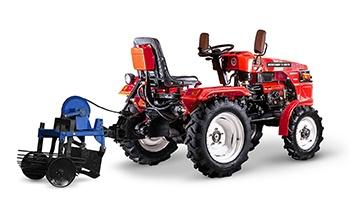 Мини-трактор Rossel RT-244D дизельный (24 л.с., трехцилиндр.) - фото Картофелекопалка Rossel XT 244