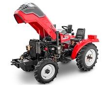 Мини-трактор Rossel RT-244D дизельный (24 л.с., трехцилиндр.) - фото Двигатель надежно защищен от пыли.jpg