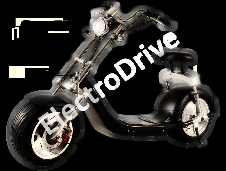 Электроскутер CITYCOCO SMD Harley lux