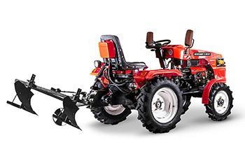 Мини-трактор Rossel XT-184D (18 л.с., ВОМ, дифференциал) - фото Плуг Rossel XT 184