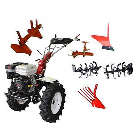Благодаря мощному двигателю, мотоблок может использовать множество дополнительного оборудования