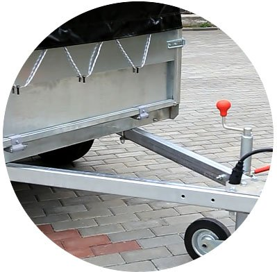 Прицеп для легкового автомобиля Уралец (8213 00) - фото дышло и рама прицепа уралец