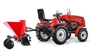Мини-трактор Rossel XT-184D (18 л.с., ВОМ, дифференциал) - фото Картофелесажалка Rossel Xt 184