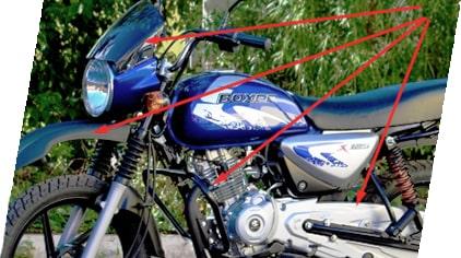 Мотоцикл BAJAJ Boxer BM 125 X - фото защита баджаж 125.jpg