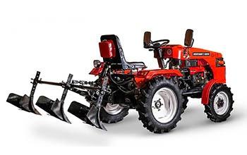 Мини-трактор Rossel XT-184D (18 л.с., ВОМ, дифференциал) - фото Окучник Rossel XT 184