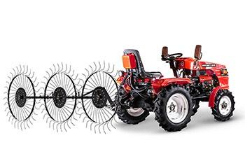Мини-трактор Rossel RT-244D дизельный (24 л.с., трехцилиндр.) - фото Сеноворошилки Rossel XT 244