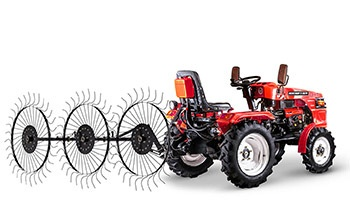 Мини-трактор Rossel XT-184D (18 л.с., ВОМ, дифференциал) - фото Сеноворошилки Rossel XT 184