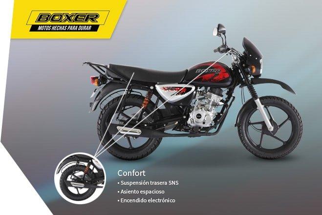 Мотоцикл BAJAJ Boxer BM 125 X - фото confort-caracteristicas-boxer-659-x-440.jpg