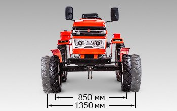 Мини-трактор Shtenli T-180 (18 л.с., ВОМ) - фото колея трактора штенли 180