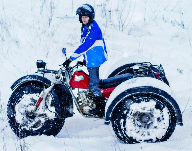 Снегоболотоход ЗиД Бархан красный