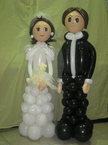 фигура жениха и невесты из шаров