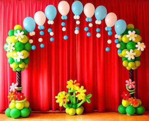 оформление детского сада шарами