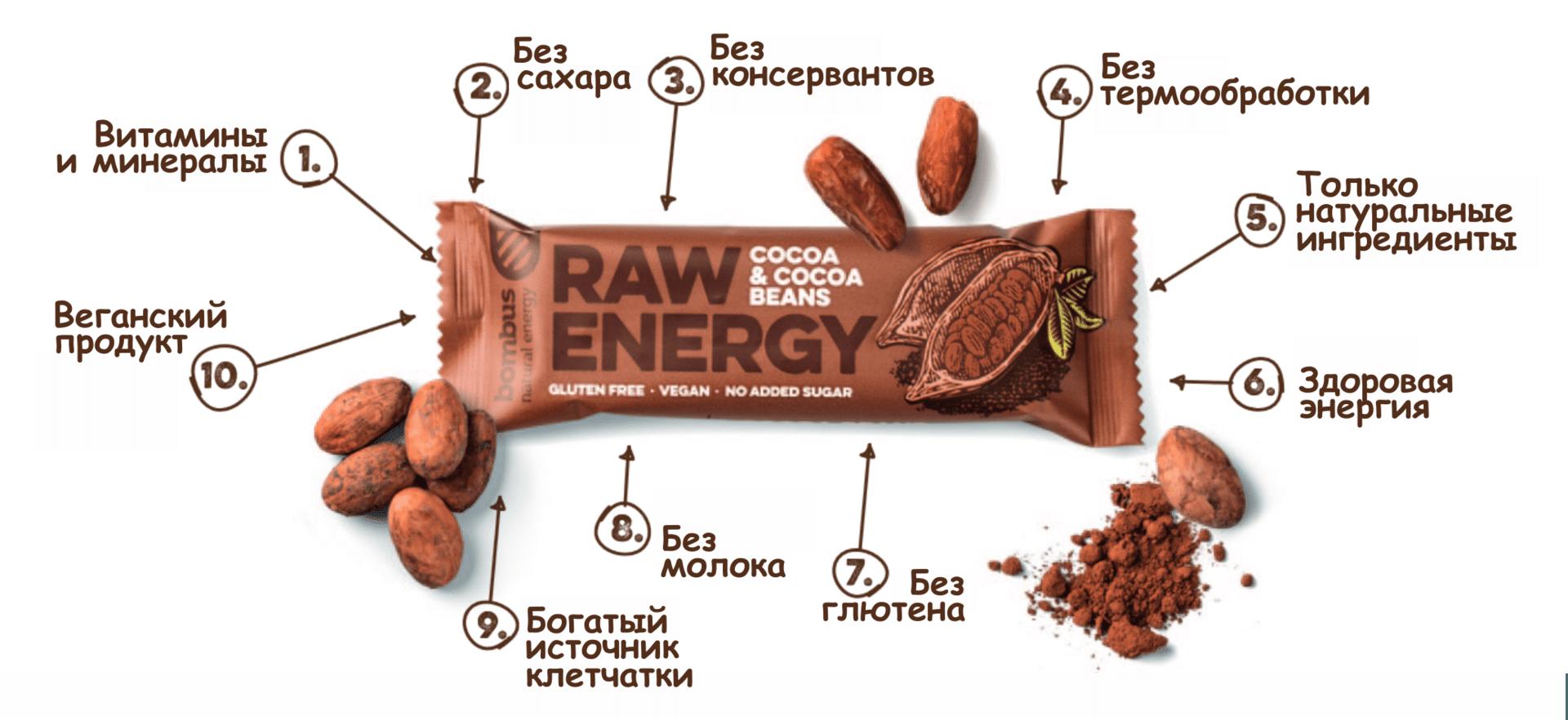 Натуральные батончики Raw Energy - фото Батончик raw energy купить минск