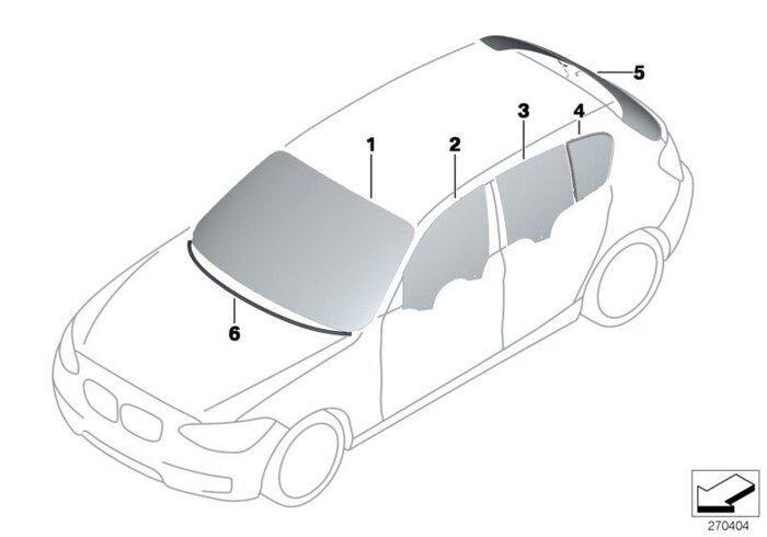 Оригинальные лобовые стекла (ветровое стекло) для BMW - фото 1