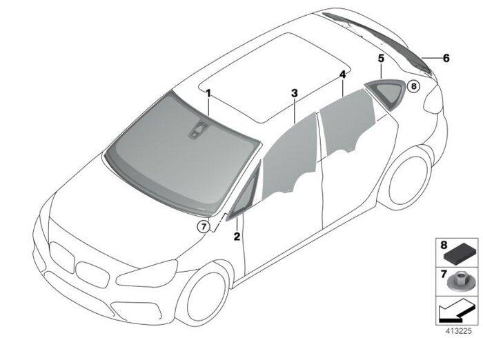 Оригинальные лобовые стекла (ветровое стекло) для BMW - фото 3