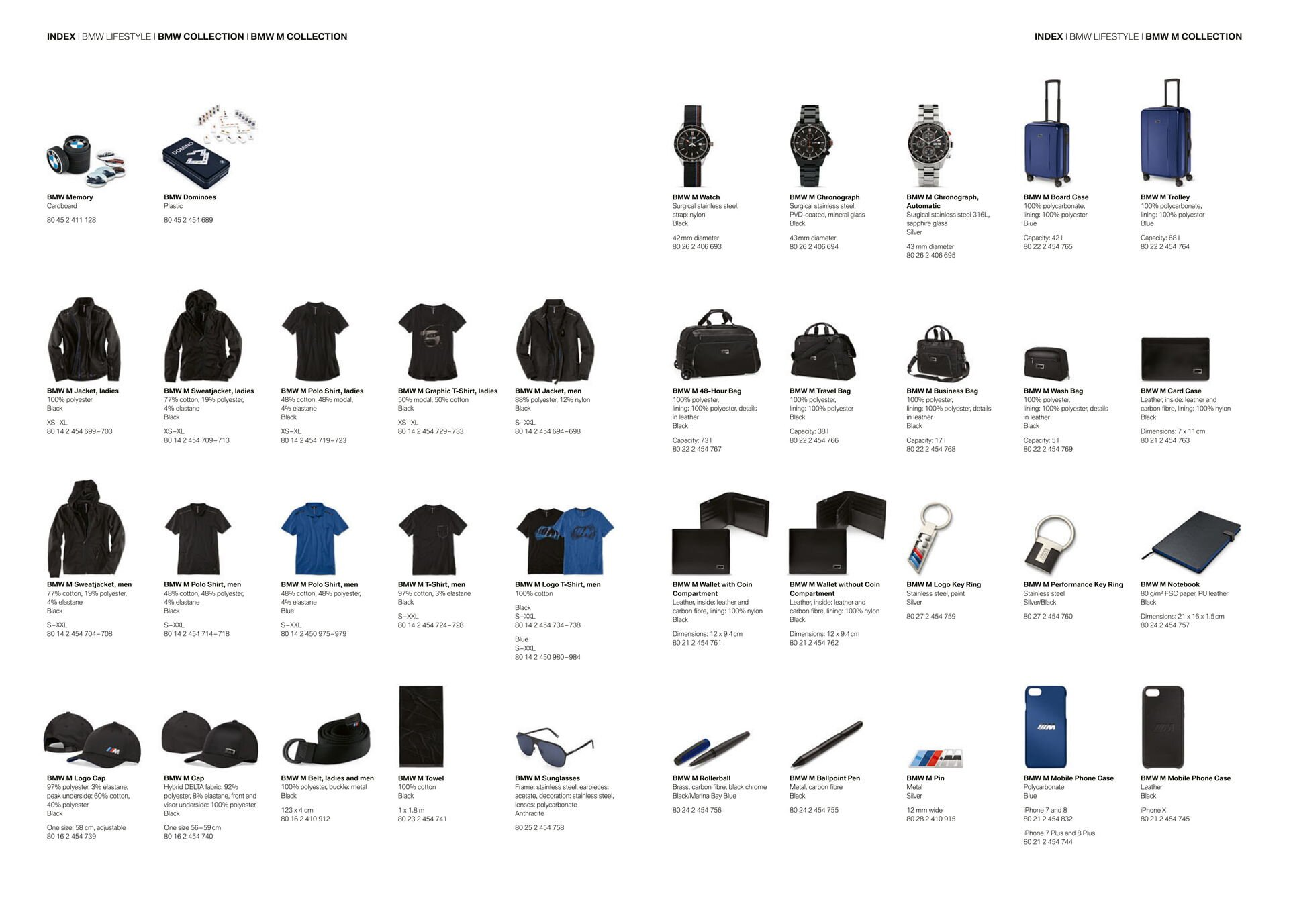 Коллекция аксессуаров BMW LIFESTYLE 2018-2020 - фото pic_f0e869808f268de_1920x9000_1.jpg