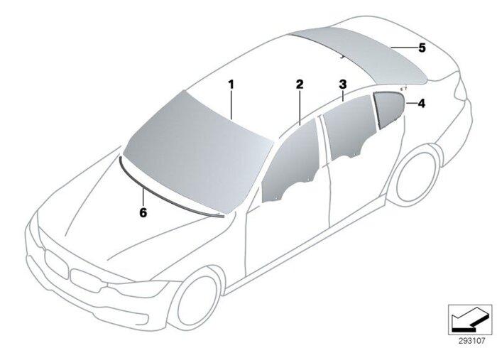 Оригинальные лобовые стекла (ветровое стекло) для BMW - фото 2