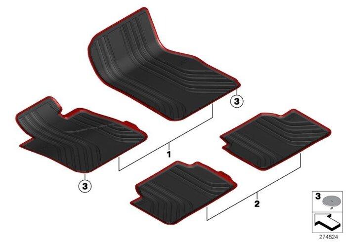 Оригинальные коврики BMW - фото 3