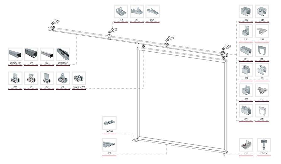 Комплектующие для подвесных откатных ворот - фото pic_4f4fd79222ee45263b74ba5900fc0f90_1920x9000_1.jpg