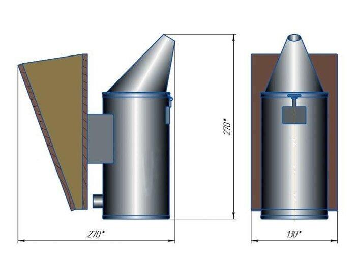 Дымарь пасечный со съемным мехом и термозащитным экраном, тип 3. ДП-3 - фото pic_ba031b4d4fce35e_700x3000_1.jpg