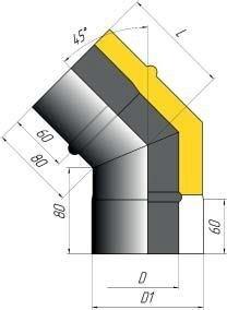 Отвод двустенный 45* - фото pic_254201737b7386b_700x3000_1.jpg