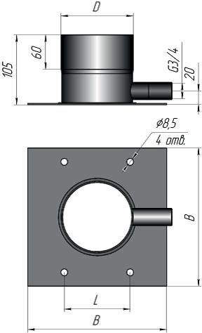 Основа дымохода с боковым конденсатоотводчиком - фото pic_4a85a216bc62995_700x3000_1.jpg
