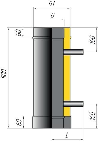 Элемент дымохода двустенный с резьбовым отводом - фото pic_efb90c54130570a_700x3000_1.jpg