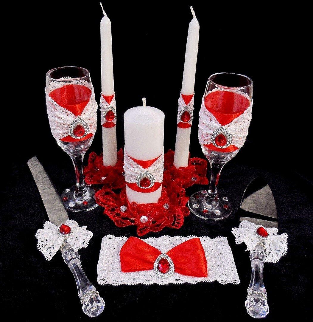 Приборы для свадебного торта ( нож и лопатка) - фото Набор свадебных аксессуаров с комплектом для торта