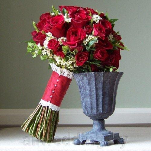 Давайте поговорим о свадебном букете из роз. - фото 1