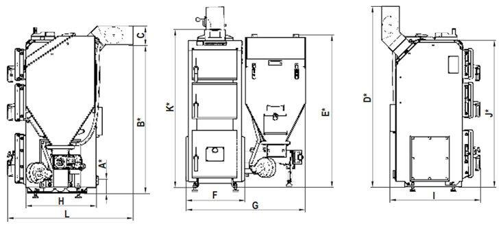 Котёл DEFRO Komfort Eko 35 кВт - фото Кликните для увеличения