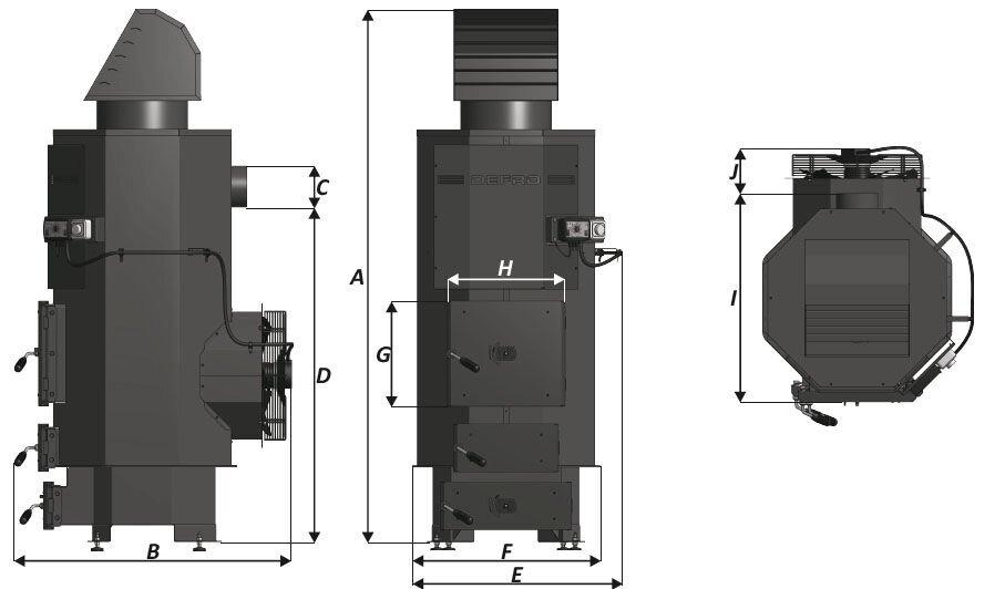 Котел воздушного отопления (теплогенератор) Defro NP 75 кВт - фото Кликните для увеличения