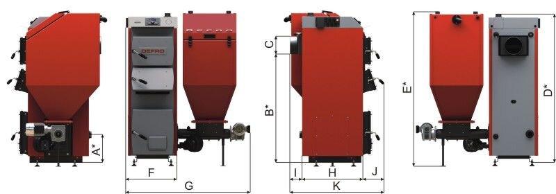 Котёл DEFRO Komfort Eko Duo Uni 25 кВт - фото Кликните для увеличения