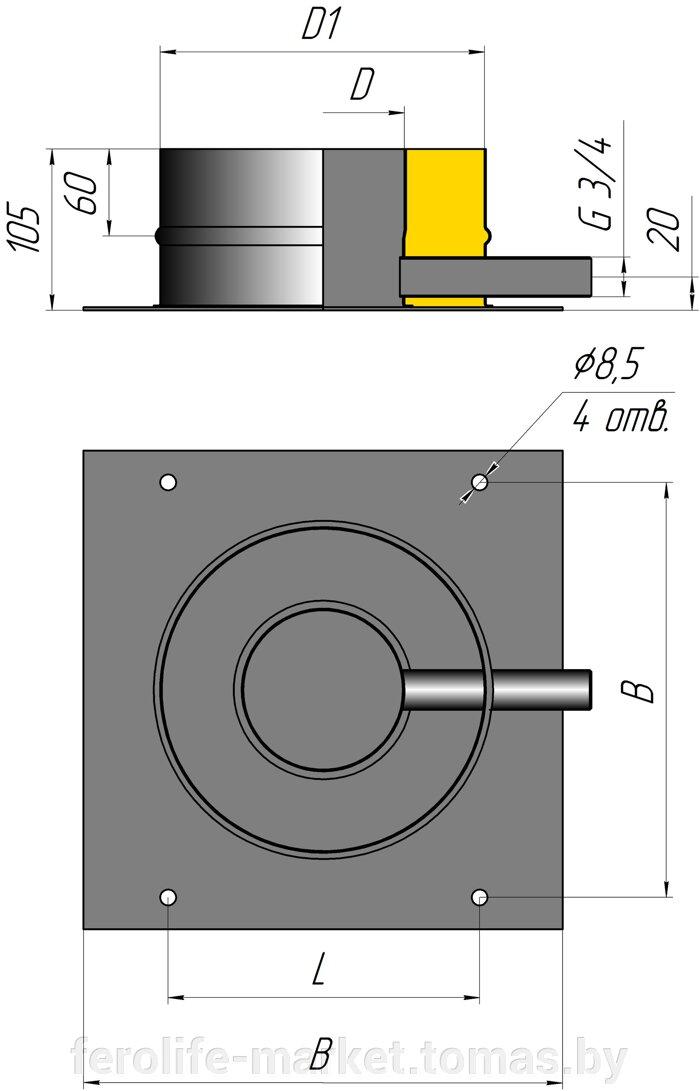 Основа дымохода двустенная с боковым конденсатоотводчиком - фото pic_278535a2a7e07c9_700x3000_1.jpg