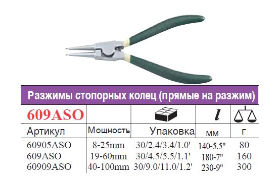Съемник наружных стопорных колец прямой 230 мм - фото 1