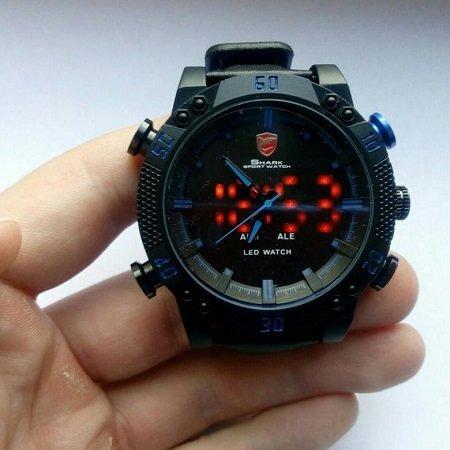 Спортивные часы Shark Sport Watch SH265 Черные с красным - фото pic_1d55ab577aa0658_1920x9000_1.jpg