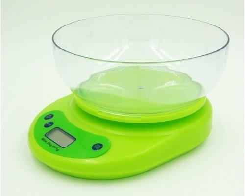 Весы кухонные электронные с чашей Feilite KE-1, нагрузка до 5 кг Зеленый корпус - фото pic_2c723dba5645abb_1920x9000_1.jpg