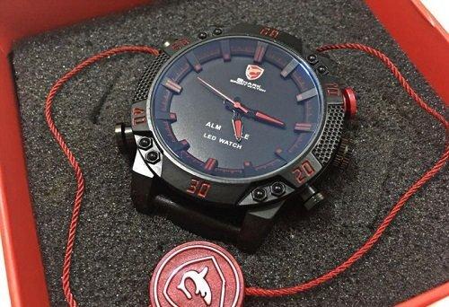 Спортивные часы Shark Sport Watch SH265 Черные с красным - фото pic_4441523a8b1f34c_1920x9000_1.jpg